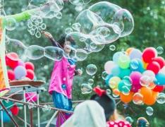 шоу мыльных пузырей на день рождения ребенка СПб