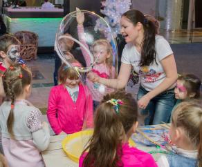 мыльные пузыри на детский день рождения СПб