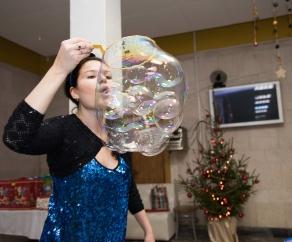 заказать шоу мыльных пузырей СПб